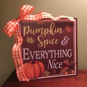 🎃 Pumpkin Spice Fall Sign NEW!! 🎃